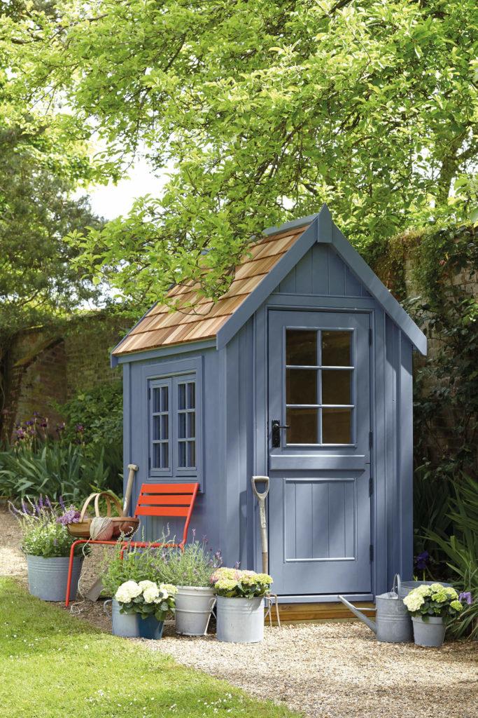 Peinture écologique pour boiseries extérieures - bleu - Juniper Ash 115